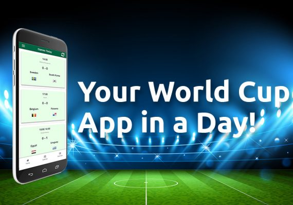 Mobile app in a day: Tim's World Cup